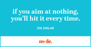 If you aim at nothing, you'll hit it every time, quote by Zig Ziglar.