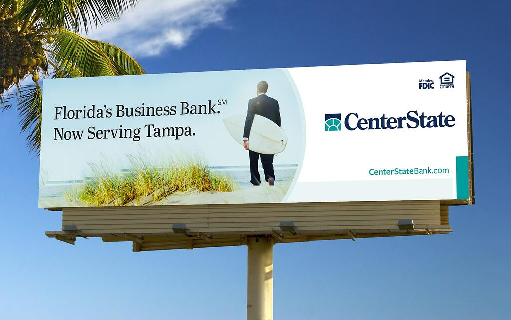CenterState Bank Billboard Outdoor Board Design Silver Addy for MADE
