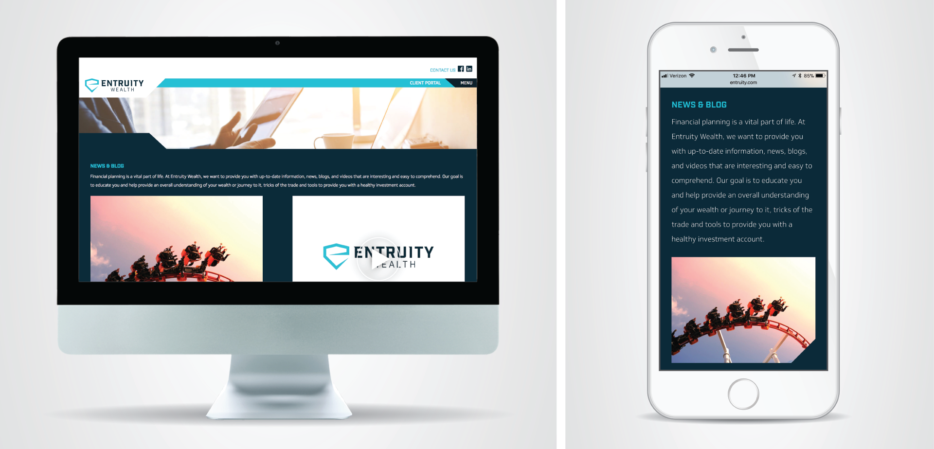 Entruity Wealth Website Design and Development Silver Addy for MADE