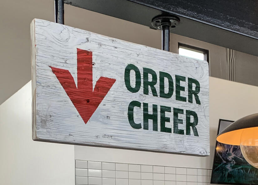 The Yard On Mass Cheer Sign