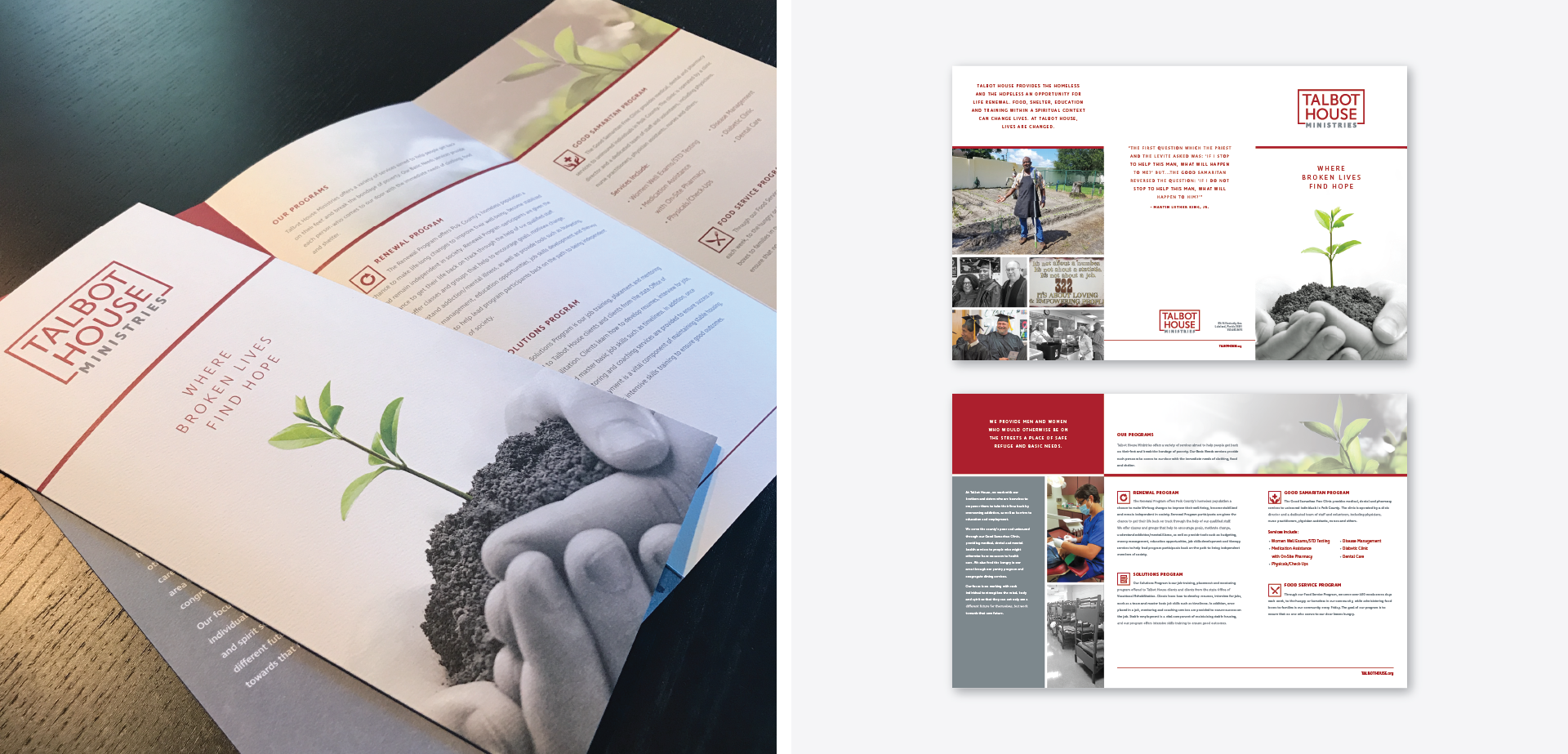 Talbot House Ministries Find Hope Brochure Design SIlver Addy for MADE