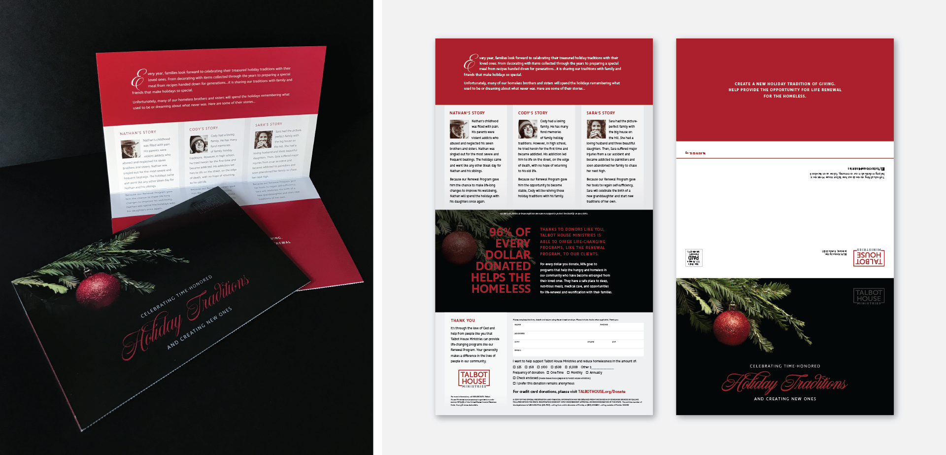 Talbot House Ministries Holiday Direct Mail Design Silver Addy for MADE